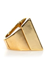 Square-y Stories Gold Square Ring at Lulus.com!