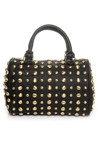 Looking for Studs Black Handbag