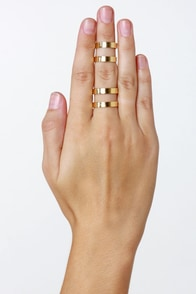 Couples Repeat Gold Ring Set