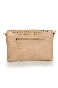 Believe It or Dot Studded Beige Handbag by Urban Expressions at Lulus.com!