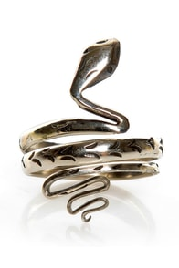 Jen's Pirate Booty Venom Vibe Silver Snake Ring at Lulus.com!