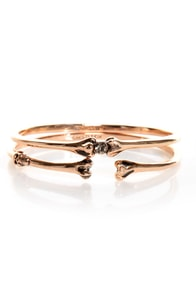 Wildfox Bone and Only Rose Gold Bangle Set at Lulus.com!
