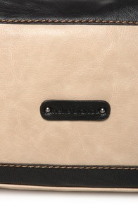 Melie Bianco Helena Black and Beige Handbag at Lulus.com!