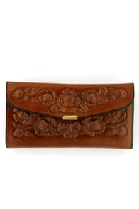 Spanish Rose Wallet in Coffee