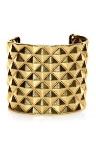 Piece o' Giza Gold Studded Cuff