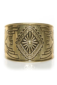 Fortunate Sun Gold Cuff Bracelet at Lulus.com!