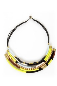 Thready or Knot Lime Green Statement Necklace at Lulus.com!