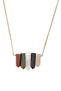 Obey Shaman Crystal Necklace at Lulus.com!