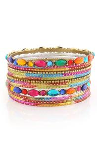 Chakra Rainbow Bangle Set