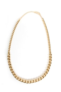 Bling It on Home Gold Chain Necklace at Lulus.com!