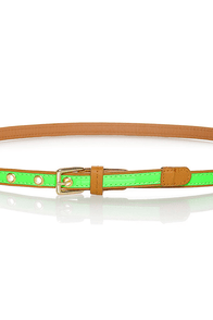 All-Bright-er Neon Skinny Belt at Lulus.com!