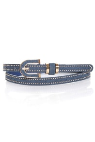 Dallas Darling Studded Suede Belt
