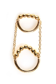 Twofer Silver Knuckle Ring at Lulus.com!