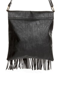 Pretty Pretty Fringe-ess Black Fringe Purse