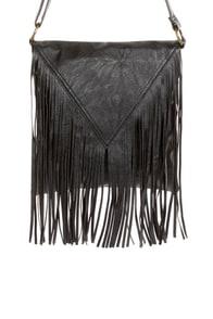 Pretty Pretty Fringe-ess Black Fringe Purse at Lulus.com!