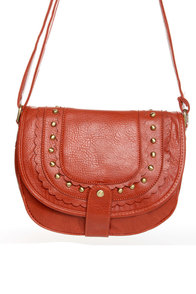 Citrus Sister Studded Orange Purse at Lulus.com!