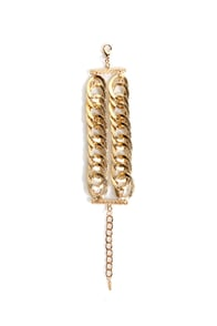 Linky and the Chain Gold Bracelet at Lulus.com!
