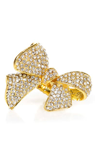 Bow-y Toy Gold Ring at Lulus.com!