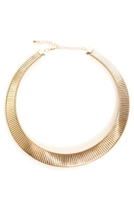 Band of Brilliance Gold Collar Necklace
