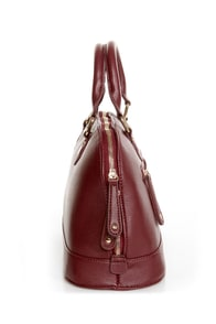 Editor's Desk Burgundy Satchel at Lulus.com!