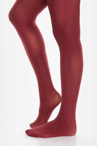 Tabbisocks Time of the Season Wine Red Tights