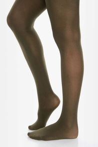 Tabbisocks Time of the Season Olive Green Tights