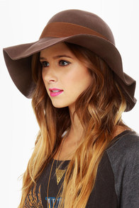 Volcom Social Animals Brown Wool Hat