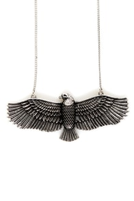 Zad Fly Like an Eagle Silver Necklace at Lulus.com!