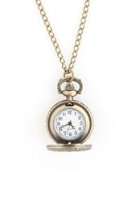 Zad Chandi Heart Watch Necklace