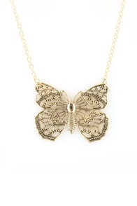 Zad Bohemian Butterfly Necklace
