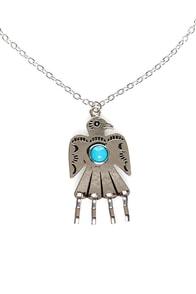 Zad Bird-er, She Wrote Silver Necklace