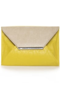 Lemon Meringue Pie Yellow Clutch