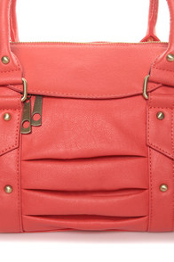 Personal Shopper Coral Handbag at Lulus.com!