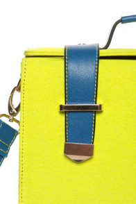 Steady As She Glows Neon Yellow and Blue Purse at Lulus.com!
