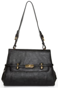 Nine to Five Structured Black Handbag
