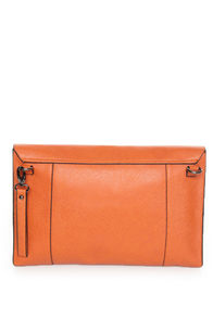 Clutch-y Subject Orange Clutch at Lulus.com!