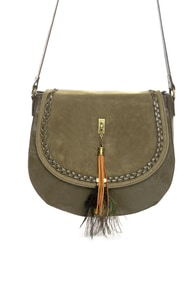 Bags of a Feather Olive Green Handbag at Lulus.com!