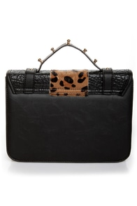 Cheetahs Always Win Animal Print Black Purse at Lulus.com!