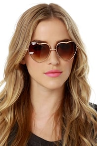 Heart of Glass Heart Sunglasses