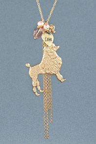 Proud Poodle Charm Necklace at Lulus.com!