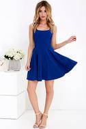 Home Before Daylight Cobalt Blue Dress 1
