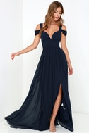 Bariano Ocean of Elegance Navy Blue Maxi Dress 4