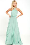 Tricks of the Trade Light Sage Maxi Dress 2