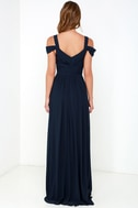 Bariano Ocean of Elegance Navy Blue Maxi Dress 6