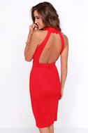 Outstanding Features Red Midi Dress 5