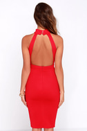 Outstanding Features Red Midi Dress 6