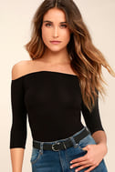 Upstage Black Off-the-Shoulder Top 1