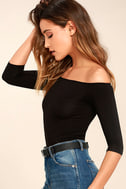 Upstage Black Off-the-Shoulder Top 3