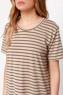 Like You a Latte Black and Beige Striped Dress 5