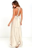 Always Stunning Convertible Beige Maxi Dress 4